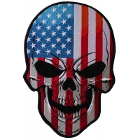 American Flag Skull Large Back Patch
