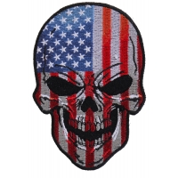 American Flag Small Skull Patch