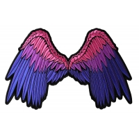 Beautiful Angel Wings In Pink And Purple Ladies Patch | Embroidered Patches