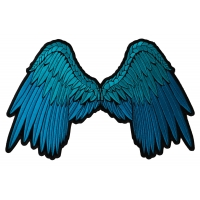 Beautiful Blue Angel Wings Patch | Embroidered Patches