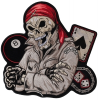 Biker Guy, 8 Ball, Ace Of Spades, Dices And Fun Large Back Patch | Embroidered Biker Patches