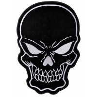 Black Skull Large Back Patch | Embroidered Patches