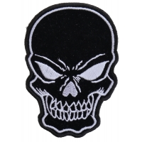 Black Skull Patch Small | Embroidered Patches
