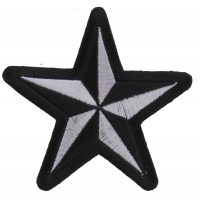 Black White Star Patch | Embroidered Patches