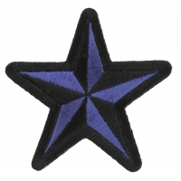 Blue Black Star Patch | Embroidered Patches