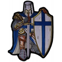 Blue Knight Large Back Patch | Embroidered Patches