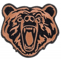 Brown Bear Patch Small | Embroidered Patches