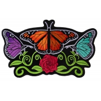 Butterflies and Flower Large Ladies Back Patch