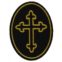 Christian Cross Oval Patch | Embroidered Patches
