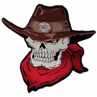Large Cowboy Skull Patch | Embroidered Patches