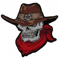Cowboy Skull Small Patch | Embroidered Patches