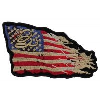 Don't Tread on Me Tattered US Flag Patch