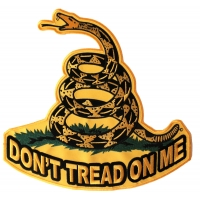 Don't Tread On Me Large Biker Back Patch | US Military Veteran Patches