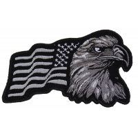 Silver Eagle US Flag Facing Right Patch | Embroidered Patches