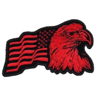 Eagle US Flag Facing Right Patch In Red | Embroidered Patches