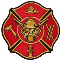 Fire Fighter Axe Ladder Hydrant Cap Patch | Embroidered Patches