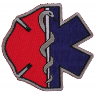 Firefighter EMT Emblems Patch | Embroidered EMT Patches