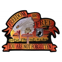 Freedom Isn't Free You Are Not Forgotten Eagle Large Patch | US Military Veteran Patches