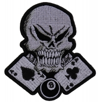 Gambler Skull 8 Ball Patch