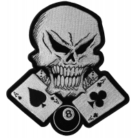 Gambler Skull Large Back Patch