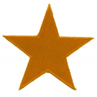 Gold Star Patch | Embroidered Patches