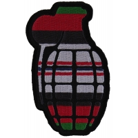 Grenade Patch Afghanistan Colors | US Afghan War Military Veteran Patches