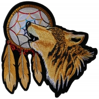 Howling Wolf Dreamcatcher Patch Large | Embroidered Patches