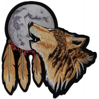 Howling Wolf Moon Back Patch Large | Embroidered Patches