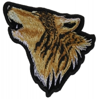 Howling Wolf Small Patch | Embroidered Patches