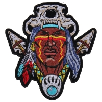 Indian Skull Head Dress Small Patch