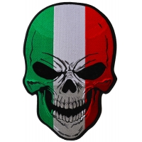 Italian Flag Skull Large Back Patch