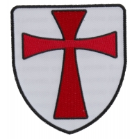 Knights Templar Shield Patch | Embroidered Patches