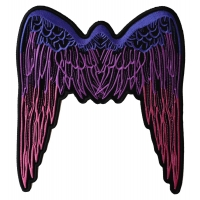 Large Angel Wings Patch Pink | Embroidered Patches