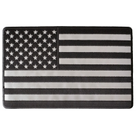Black And Reflective American Flag Large Back Patch | Embroidered Patches