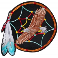 Large Dreamcatcher Eagle Jacket Back Patch | Embroidered Biker Patches