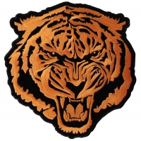 Large Orange Tiger Back Patch | Embroidered Patches