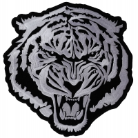 Large White Baron Tiger Patch | Embroidered Patches