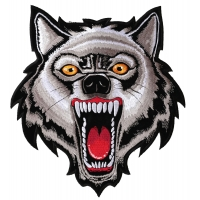 Large Wolf Patch | Embroidered Patches