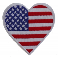 Love USA Heart Patch | Embroidered Patches