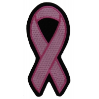 Medium Pink Ribbon Patch For Breast Cancer Awareness | Embroidered Patches