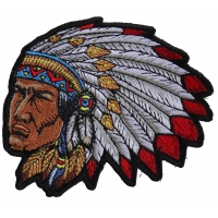 Native American Indian Head Dress Patch