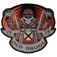 Old Skool Biker 13 Large Back Patch