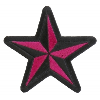 Pink Star Patch | Embroidered Patches