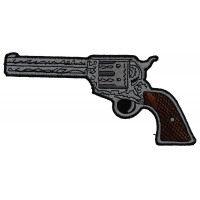 6 Shooter Pistol Patch Left Patch   Embroidered Patches