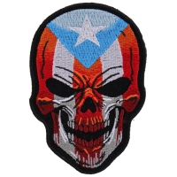 Puerto Rican Skull Patch With Puerto Rico Flag