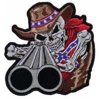 Rebel Cowboy With Shotgun Patch | Embroidered Patches