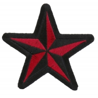 Red Black Star Patch | Embroidered Patches