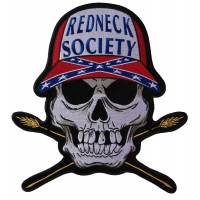 Redneck Society Skull Large Back Patch