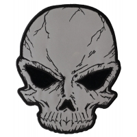 Large Reflective Skull Patch For Jackets | Embroidered Patches