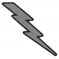Reflective Lightning Bolt Right Patch | Embroidered Patches
